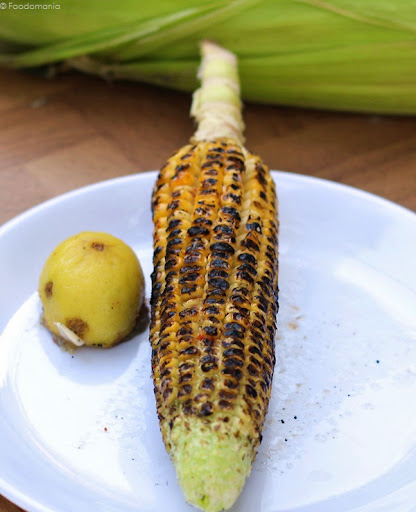 Corn on the Cob Recipe | Easy Roasted Indian Bhutta ~ Desi Style