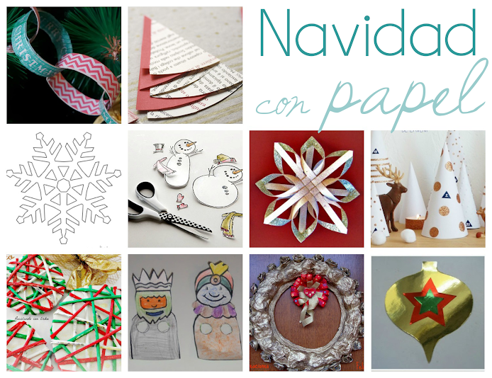ideas para decorar estas navidades con papel