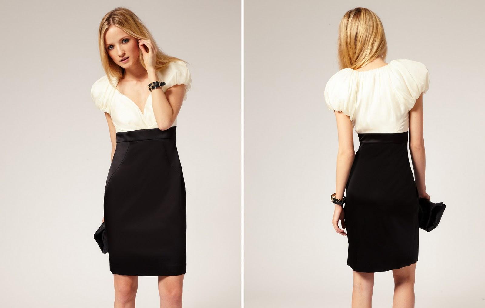 Modelos de vestidos para gordinhas em preto e branco