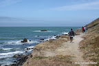 Along the trail leading to rocky beaches at Rockaway Point