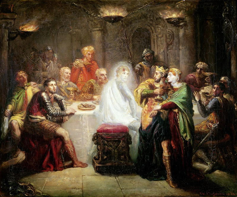 Théodore Chassériau - Macbeth seeing the ghost of Banquo