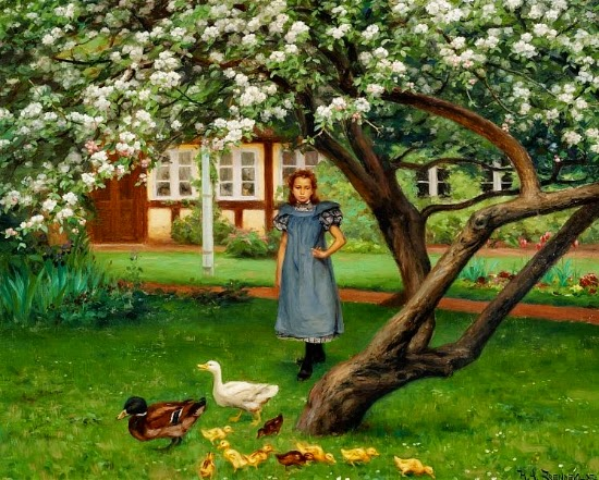 Hans Andersen Brendekilde - Under the appletree. Pedersminde, Rågelund