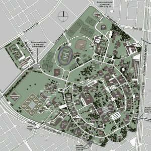 Mapa Campus Ciudad Universitaria UNAL Sede Bogotá