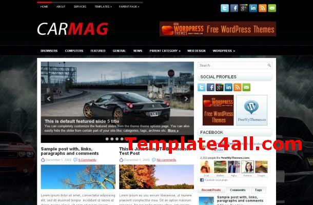 Free Sport Cars Magazine Jquery Wordpress Theme