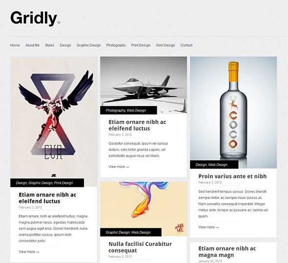 Gridly Clean and Elegant WP Theme