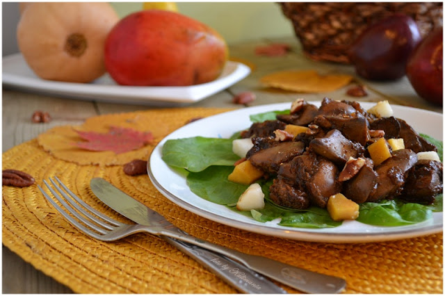 рецепт печень с грушей