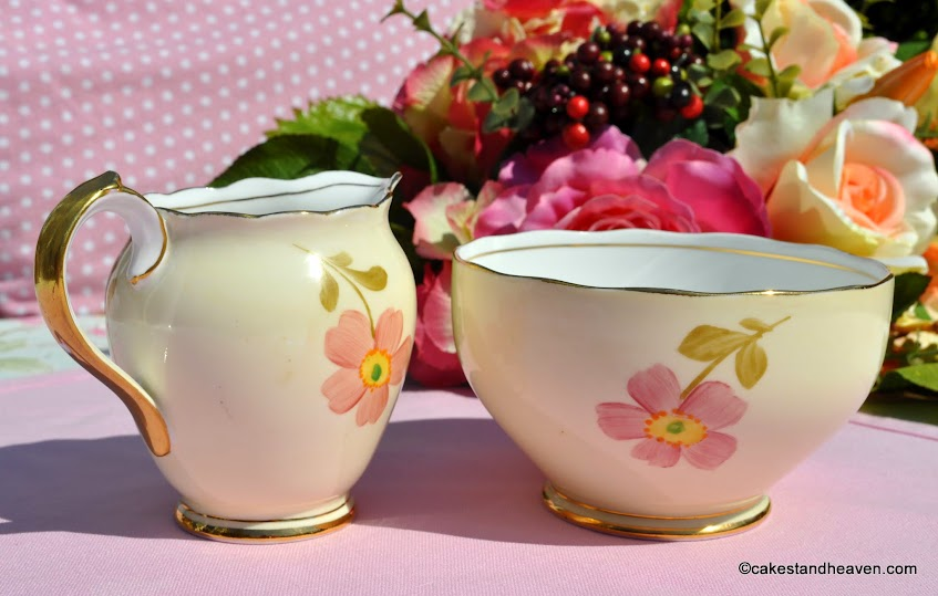 Roslyn China hand painted milk jug and bowl
