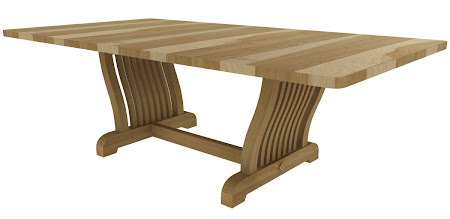 """74"""" x 44"""" Western Conference Table in Natural Hickory"""