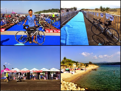 Pinoy triathlon - IM 70.3 transition area