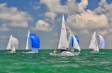 J/22s sailing the Great North Sound in Cayman Islands