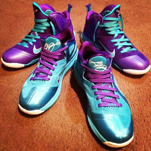 Additional Look at Nike LeBron 9 Low 8220Summit Lake Hornets8221