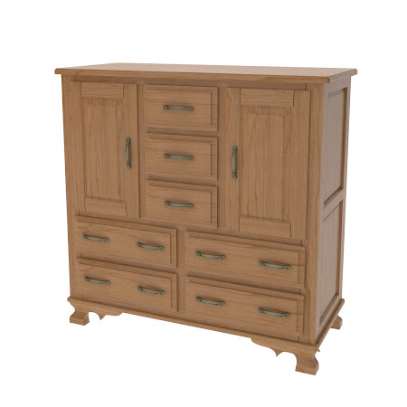 Prairie Wardrobe Dresser in Natural Cherry