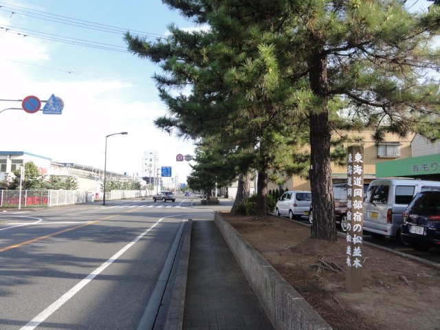 東海道五十三次 岡部宿の松並木