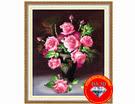Tranh đính đá 5D, Bình hoa đa sắc