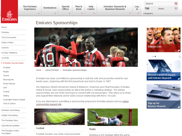 Emirates Sponsorships