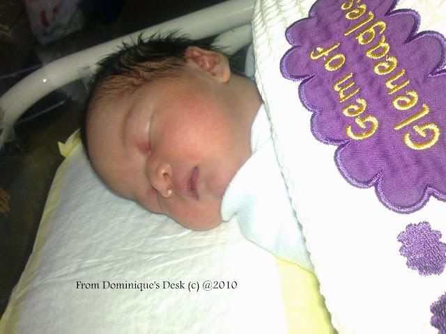 Tiger girl as a newborn