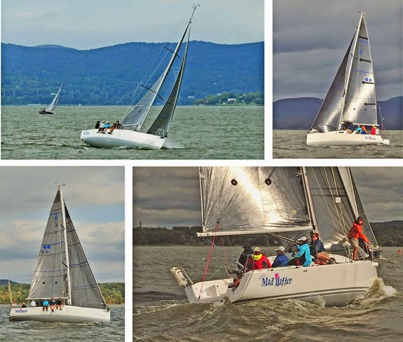 J/97 sailing on Hudson River, New York- family offshore cruiser-racer sailboat