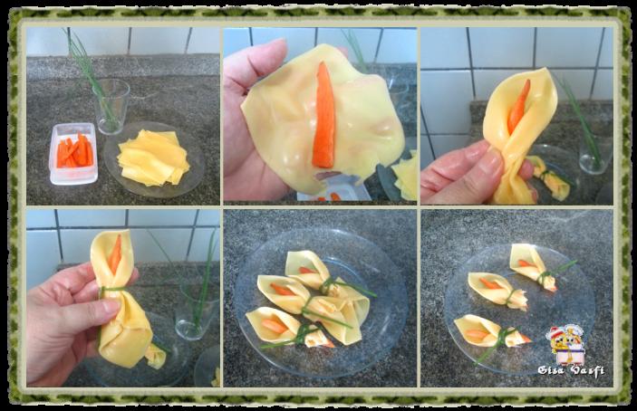 Salada de cenouras com copo de leite de queijo 4