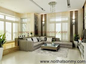 Mẫu thiết kế nội thất phòng khách 309