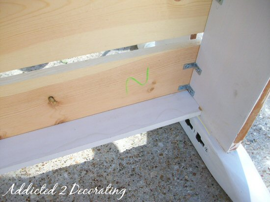 diy plywood flooring cheap idea bench made from a headboard and footboard