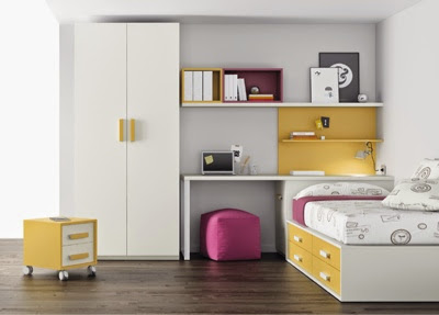 dormitorios juveniles amarillos e infantiles amarillas