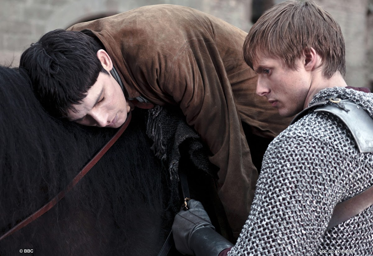 Colin Morgan is Merlin and Bradley James is Arthur