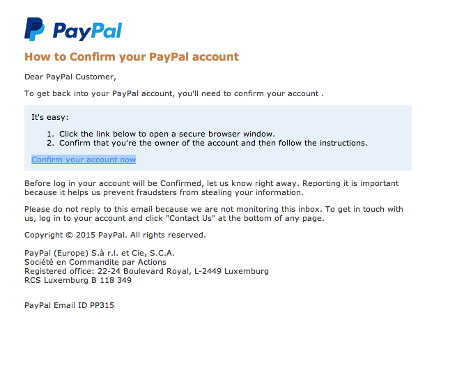 Confirm Your Paypal Account Scam – Alert | Tech Tips and Toys