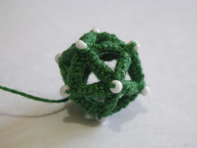 Icosahedron made in tatting