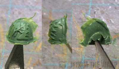 Greenstuff Black Dragon space Marine shoulderpad