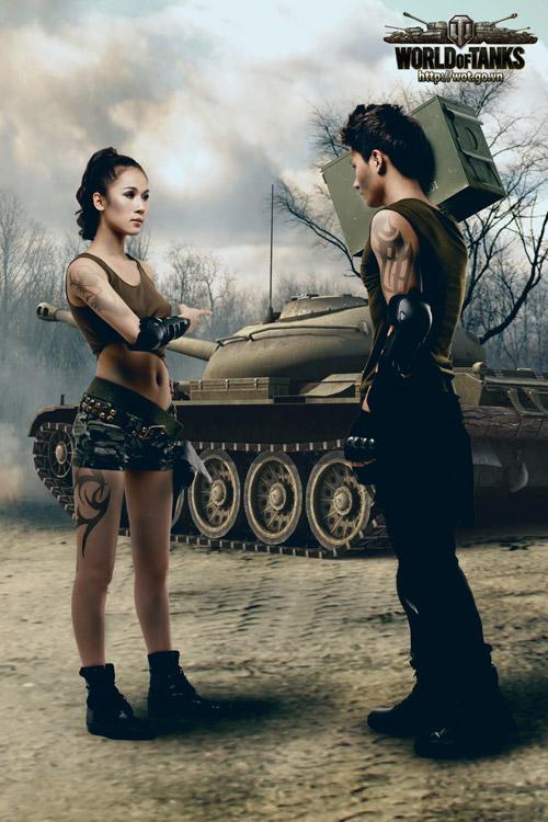 Siêu mẫu Thái Hà gợi cảm trong bộ ảnh World of Tanks 3