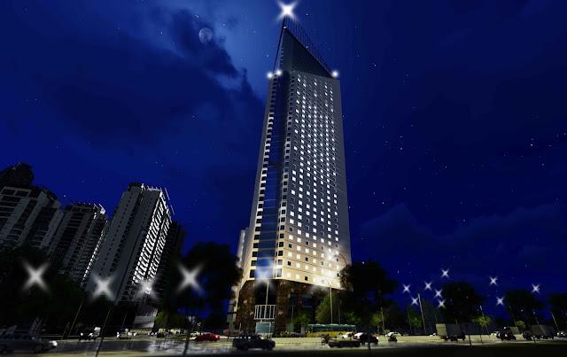 Tổng thể chung cư tháp doanh nhân Boss Tower