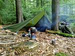 Das erste Nachtlager im Taunus, Wiesbaden noch nicht weit weg ...