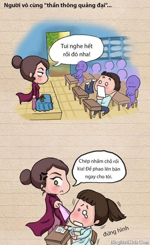 Tranh vui những câu nói bất hũ của giáo viên