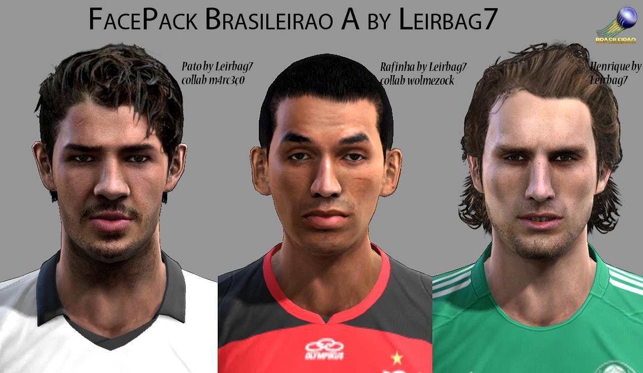 Facepack Brasileirão #1 - PES 2013
