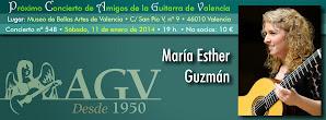 Concierto de AGV: María Esther Guzmán. 11 enero 2014