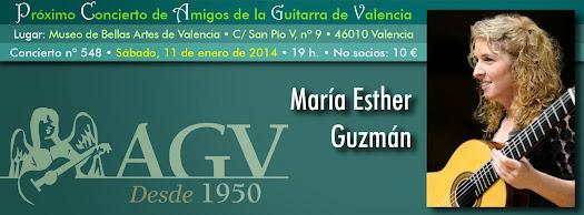 María Esther Guzmán en concierto de Amigos de la Guitarra de Valencia