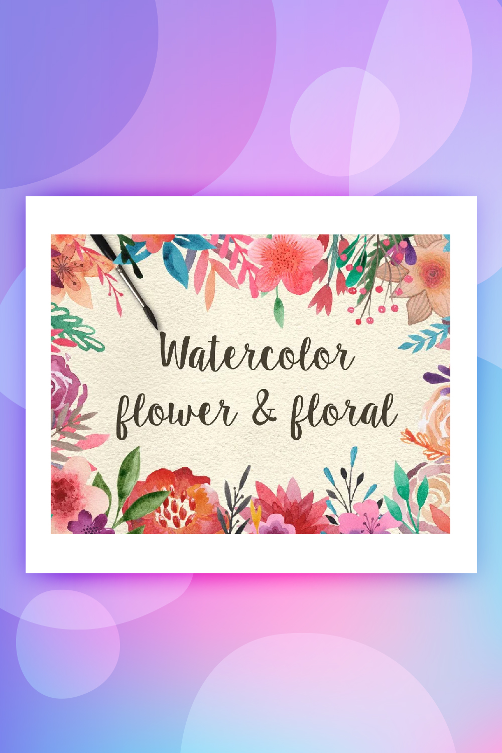 159 Watercolor flowers and florals Illustration