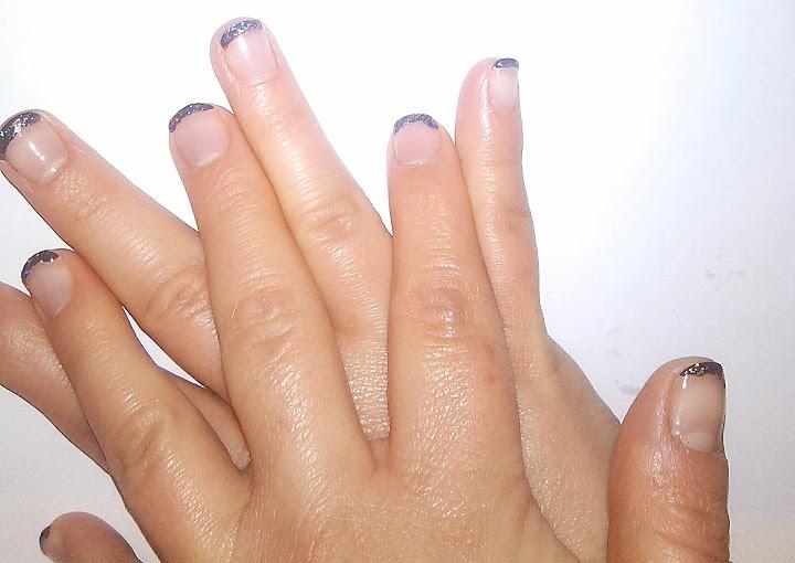 manicura francesa bicolor