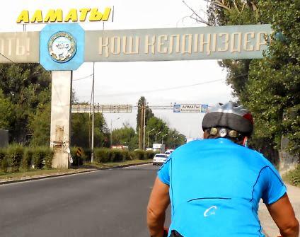 Stadtgrenze von Almaty