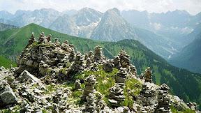 Schafreuter Blick ins Karwendel Bayern und Tirol