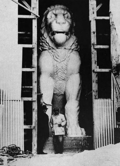 The Amphipolis Lion Re-Constructed 1937