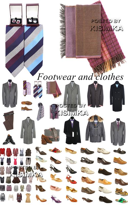 Stock Photo: Footwear and clothes
