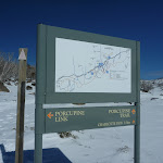 Signpost at the intersection of Porcupine and Link Track (300994)
