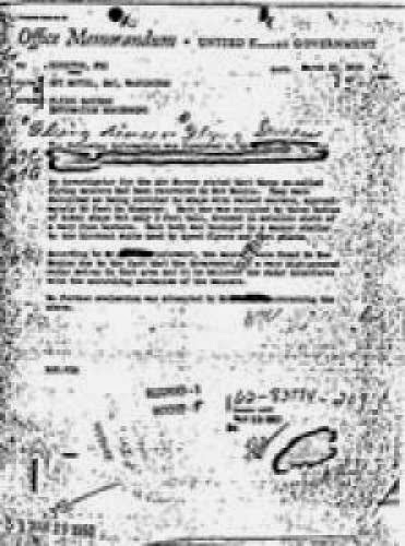 Released Fbi Files Reference Ufos