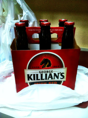 killians, red, plastic, grocery, bag