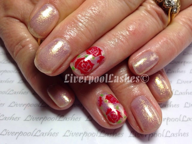 liverpoollashes liverpool lashes nail tutorials lecente neptune handpainted roses gorgeous nails pro beauty blogger