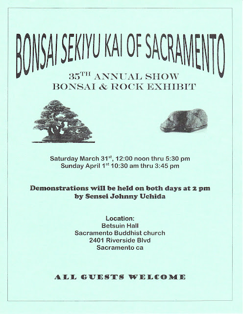 This is the flyer for the 2012 Bonsai Sekiyukai Spring Show
