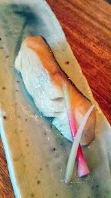 Nodoguro Pop-up Course 4: Sable fish yuan yaki and cherry blossom nectar