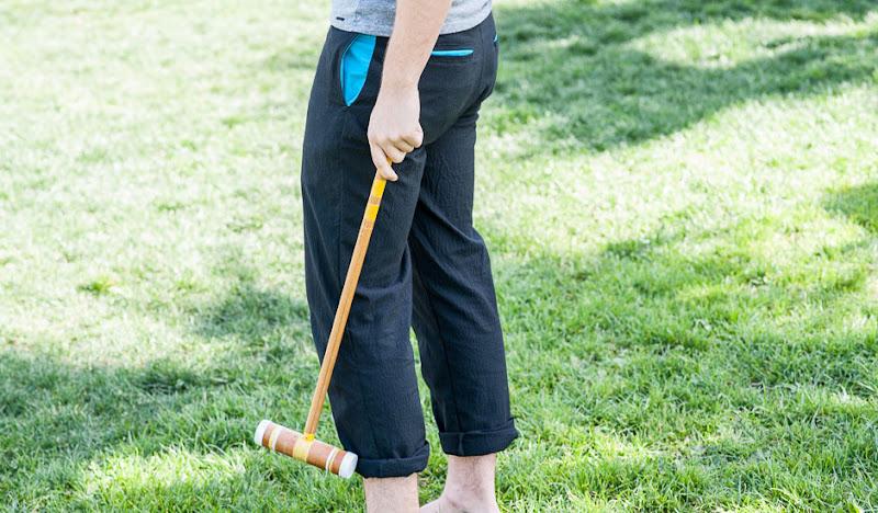 Black Seersucker Pants - Croquet