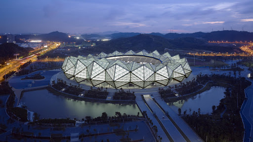 Universiade Sports Center design by gmp-architekten